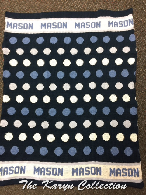 *EXCLUSIVELY OURS.....Mason's Dots COTTON Blanket