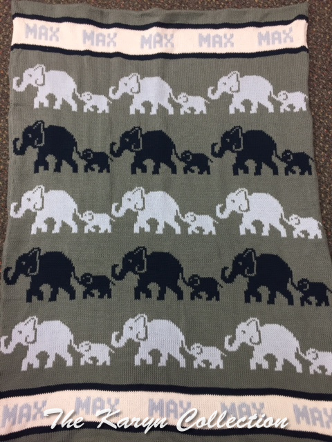 *EXCLUSIVELY OURS...MAX'S ELEPHANT COTTON BLANKET