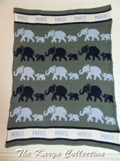 *EXCLUSIVELY OURS...Max's ALL COTTON ELEPHANT BLANKET