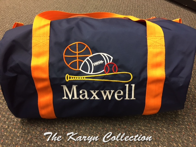 Maxwell's multi-colored Sports Duffle Bag