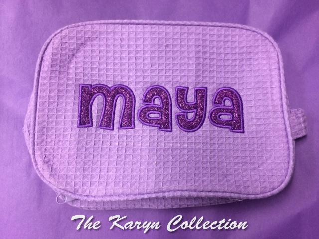 Maya Lavendar Glitter Dopp Kit