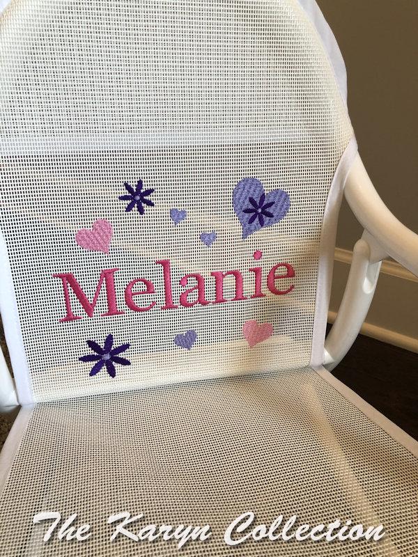 Melanie's Flowers and Hearts Mesh Rocker