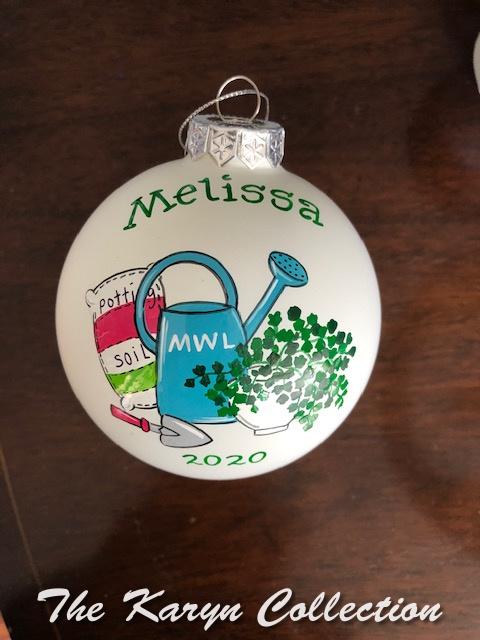 Melissa's ornament of her gardening hobby-2020