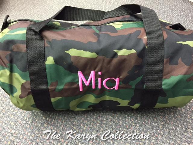 Mia's Camo Duffle Bag