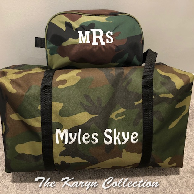 Myles Skye's 2 piece camo traveling set