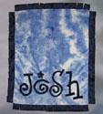 Name Game Blue Tie-Dye Blanket