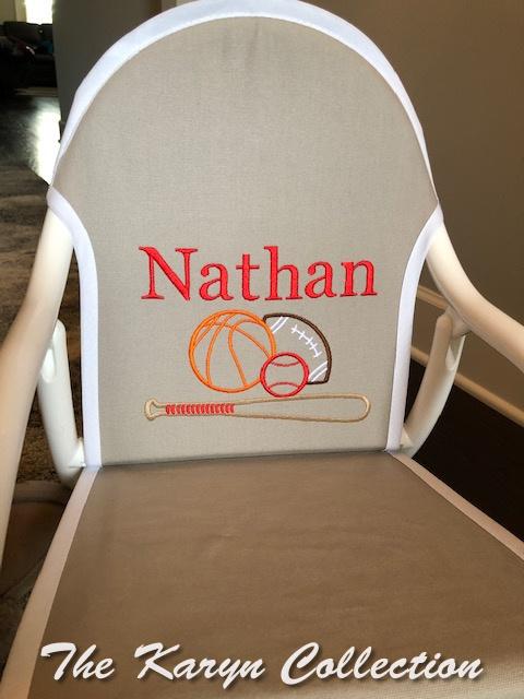 Nathan's Sports Medley Rocker on Lt. gray