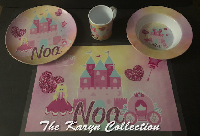 Noa's Dish set....Doesn't every PRINCESS NEED THIS??