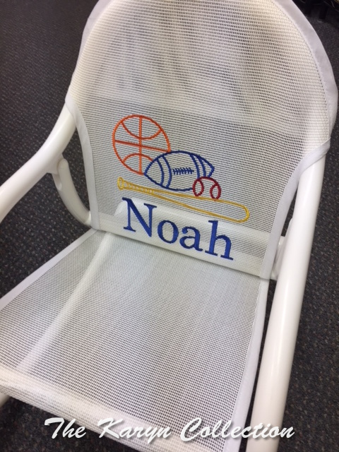 "Noah""s Primary Sports Mesh Rocking Chair"