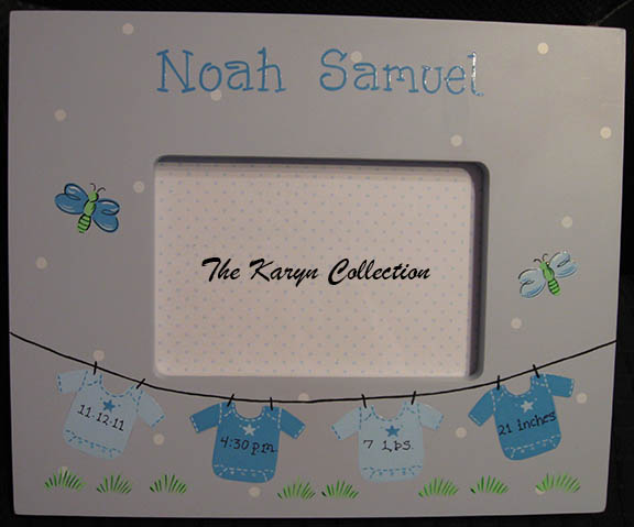 Noah's Birth Announcement Frame