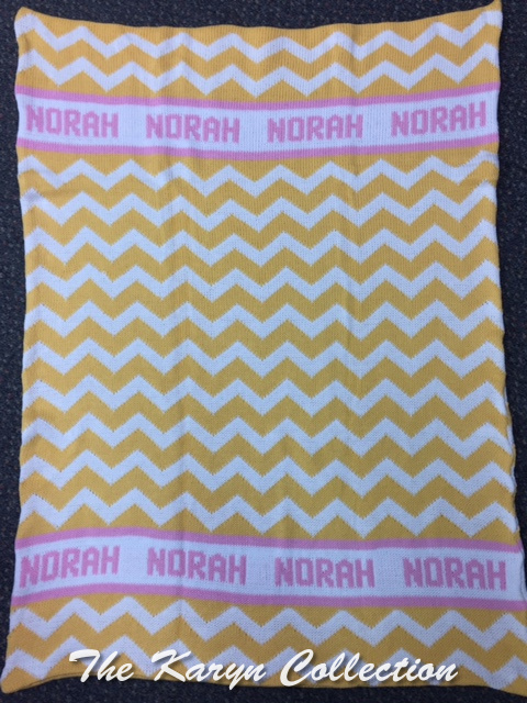*EXCLUSIVELY OURS...NORAH'S CHEVRON COTTON BLANKET