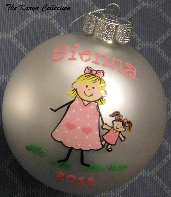 Girl and Doll Ornament