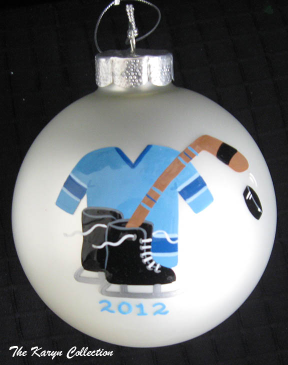 Hockey Theme Ornament