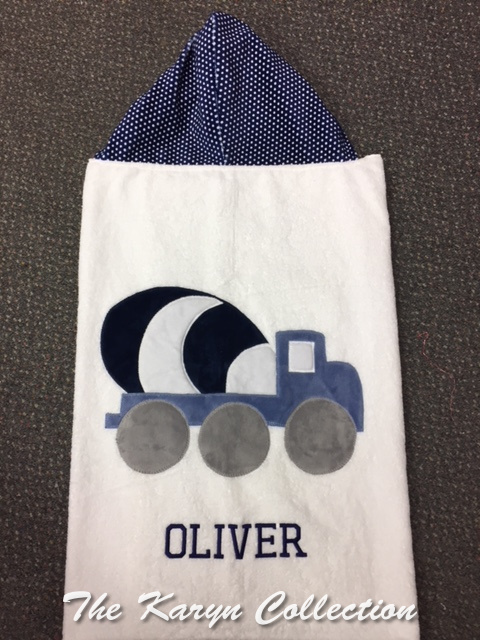 Oliver's Truck Hooded Towel