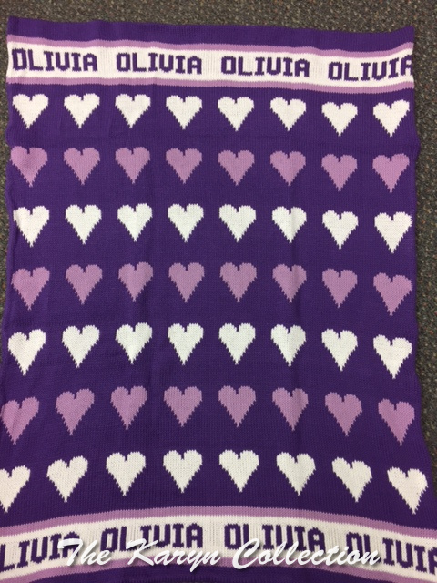 *EXCLUSIVELY OURS...OLIVIA'S HEARTS COTTON STROLLER BLANKET