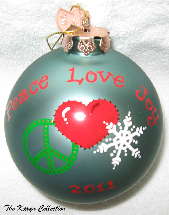 Peace, Love, & Joy Ornament