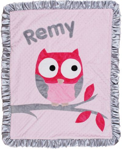 "Pink "" The Who"" Minky Blanket"