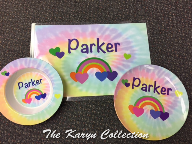 Parker's Rainbow 3-Piece Dish Set