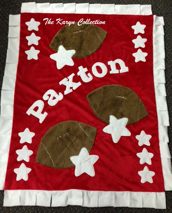 Football Minky Blanket