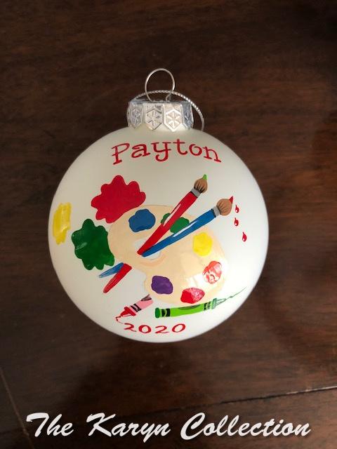 Payton's Art Ornament.... she's super creative!!