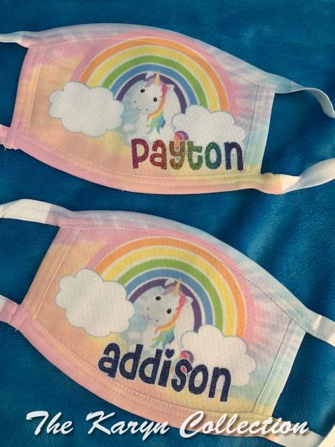 Payton's Unicorn Face Mask
