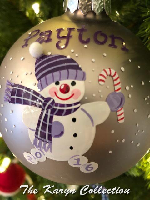 Payton's Snowman Ornament