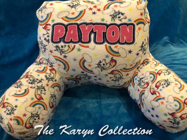 Payton's Unicorn and Rainbow Study Pillow