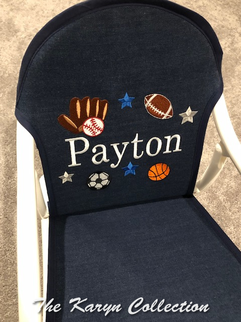 Payton's All Sports Rocker shown on dark denim