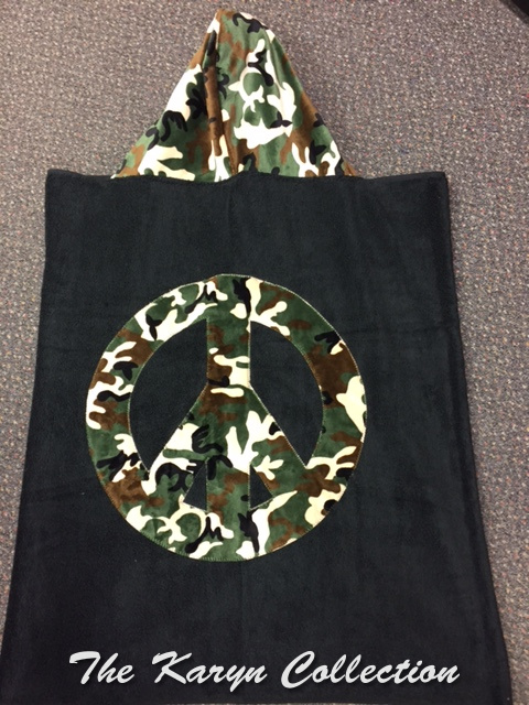Peace Camo Toddler Hooded Towel