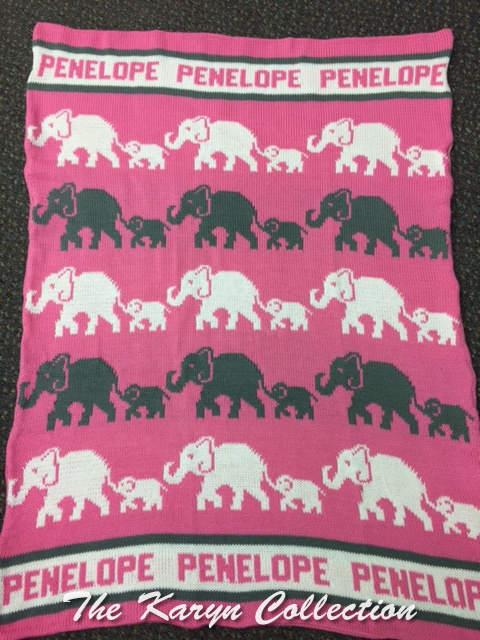 *EXCLUSIVELY OURS...PENELOPE'S ALL COTTON ELEPHANT STROLLER BLANKET