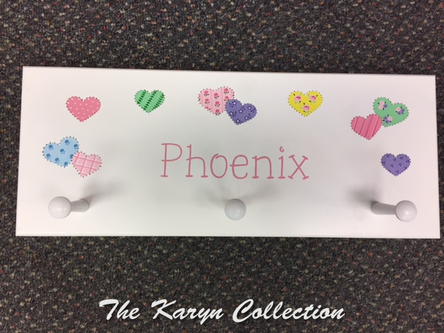 Phoenix' Patchwork Hearts Coat Rack