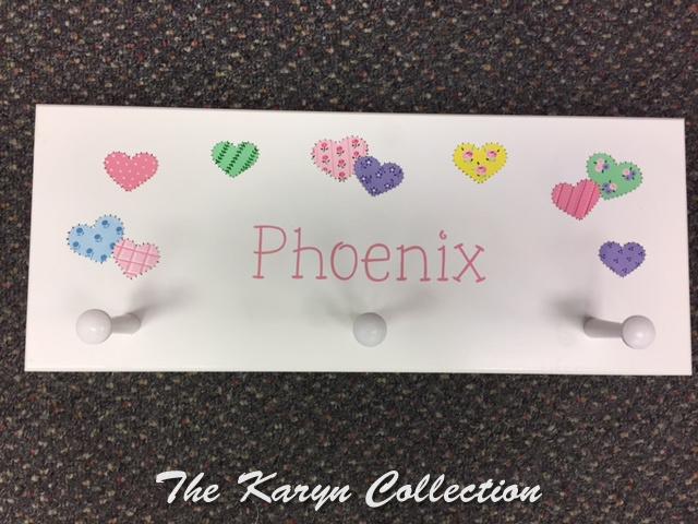 Phoenix' Patchwork Hearts Coat Rack