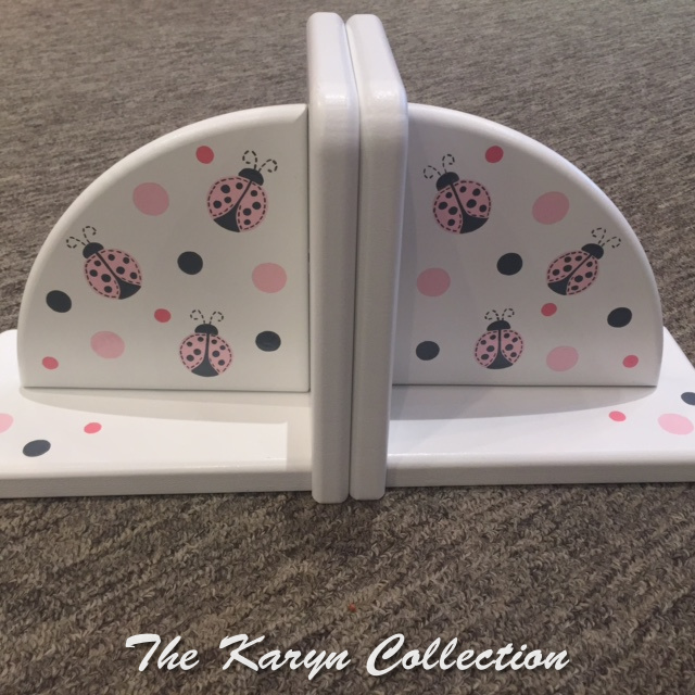 Ladybug and Polka dot Bookends....