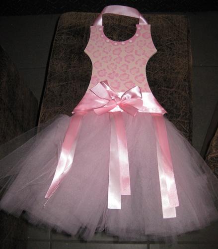 Tutu Pink Leopard Ballerina Barrette Holder