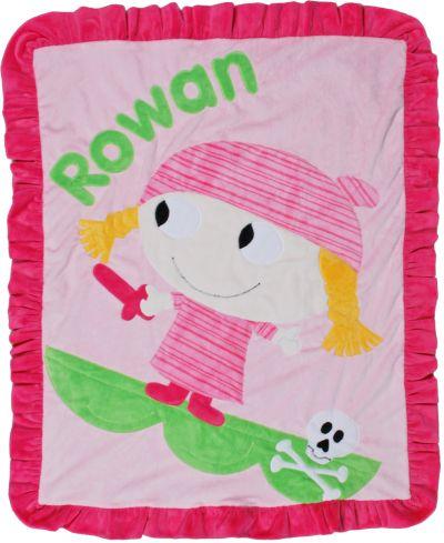 Argh! Girl Minky Blanket