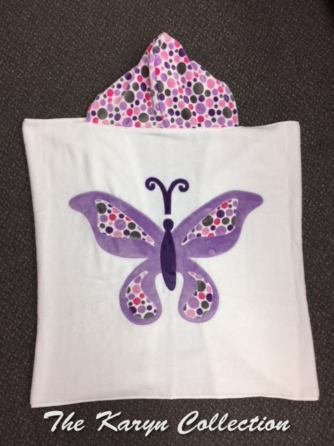 Polka Dot Butterfly Towel