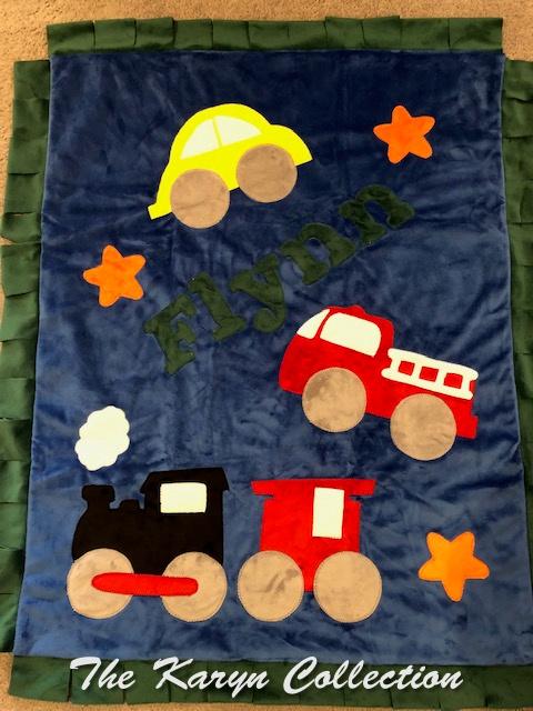 Flynn's Vehicles on a Minki Blanket
