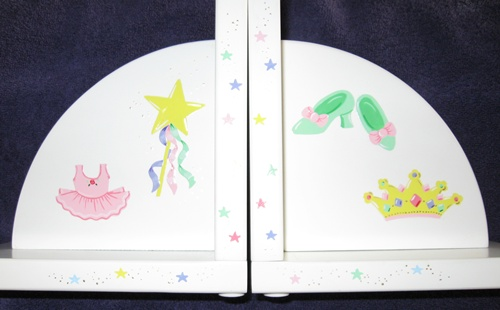 Delicate Painted Princess Bookends