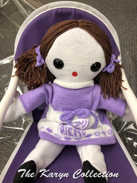 Purple Rocker with Special Friend Doll in lavender