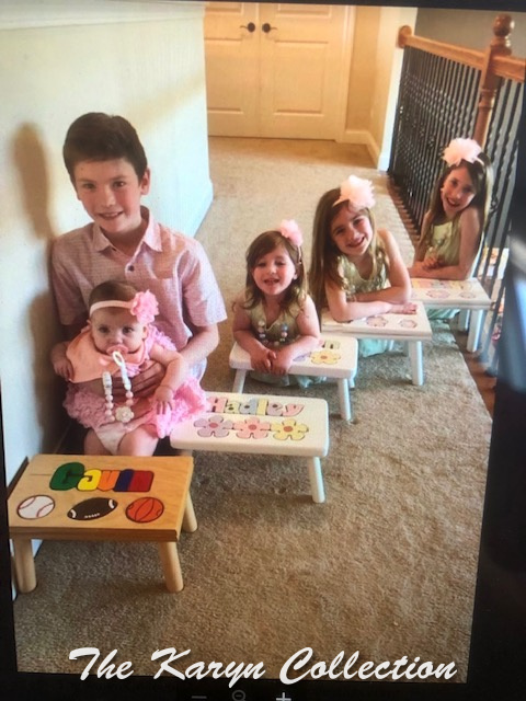 psLove this beautiful family of 5 with stools all from The Karyn Collection!!