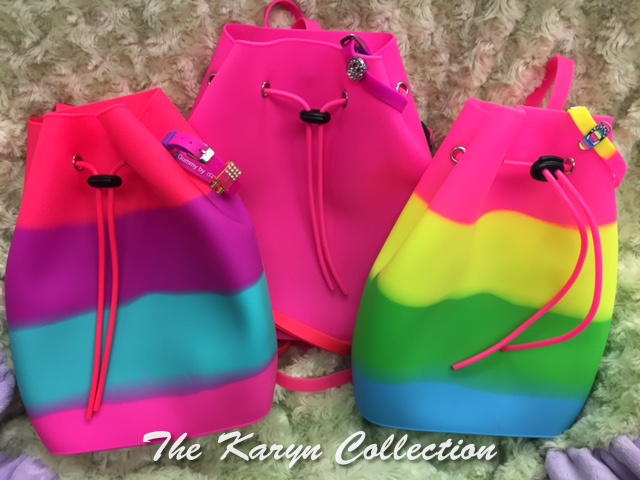 "Rainbow ""gummy""backpacks"