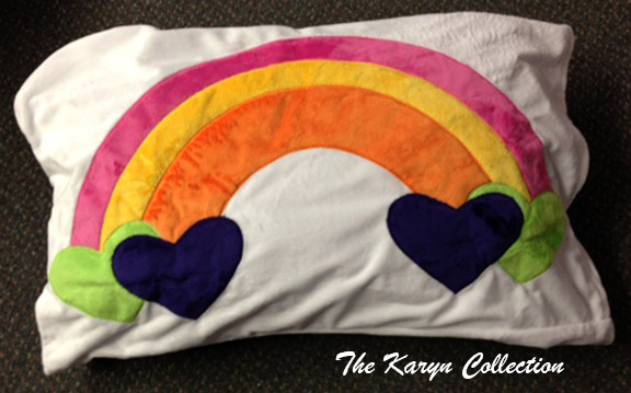 Rainbow Minky Pillow Case