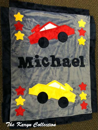 Michael Race Car Blanket