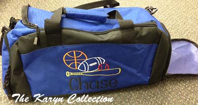 Chase's  gym bag with Shoe Pocket