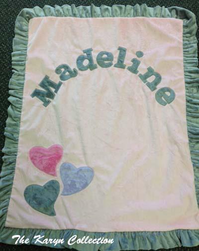 Basic Funky Hearts Blanket - Madeline