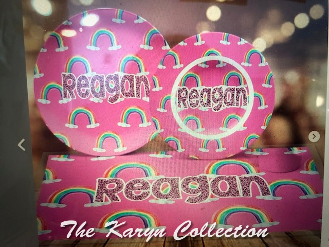 Reagan's rainbows 4-Piece Dish Set