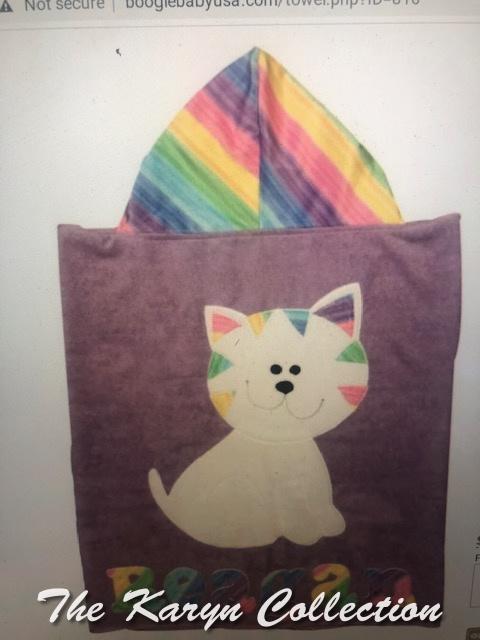 Reagan's Rainbow Cat Hooded Towel*** New in 2021