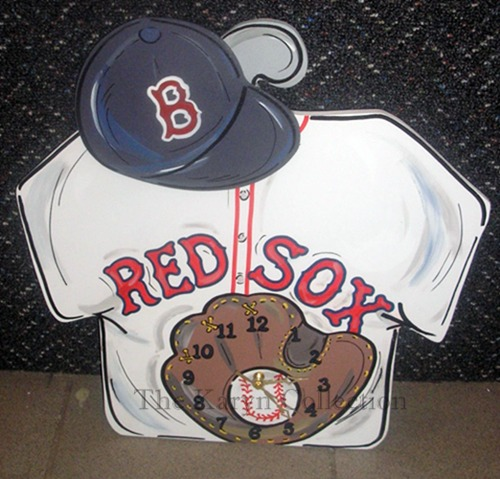 Red Sox Baseball Clock
