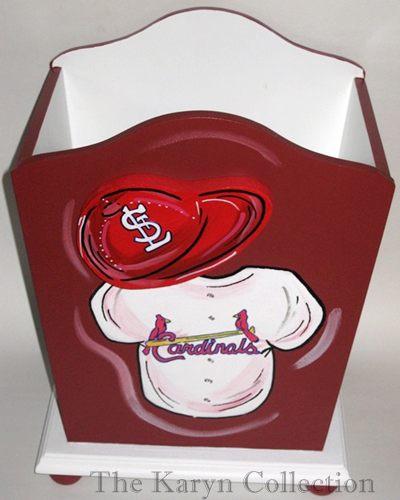 St Louis Cardinals Trash Can