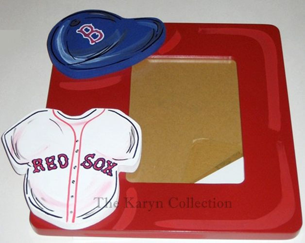 Red Sox Hand Painted Picture Frame